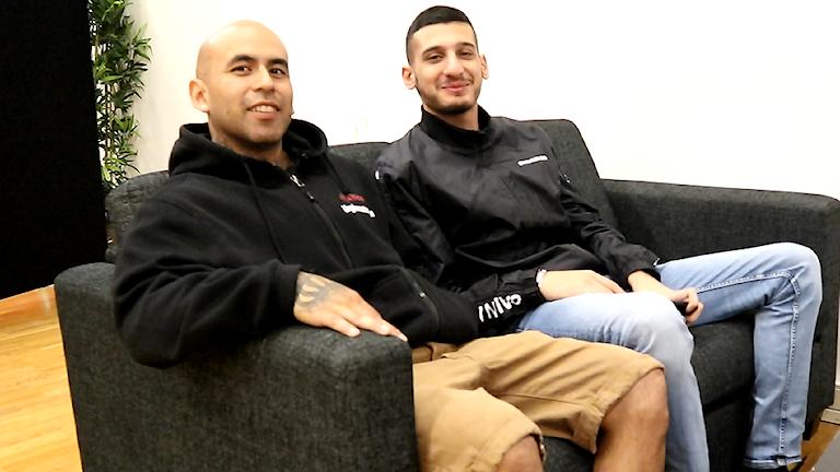 Ernesto Escobar och Omar Albaraj från projektet Brotherhood i Angered.