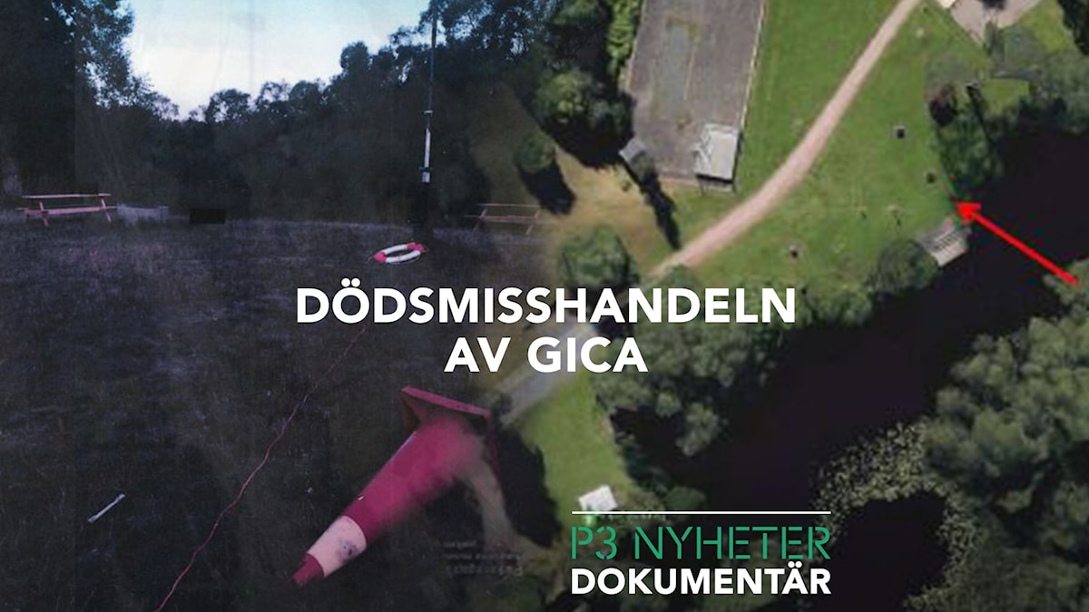 En flygbild över platsen där Gica dog