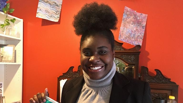 Lakeysha Bosley sitter i Missouris delstatsparlament. Foto: Palmira Koukkari Mbenga