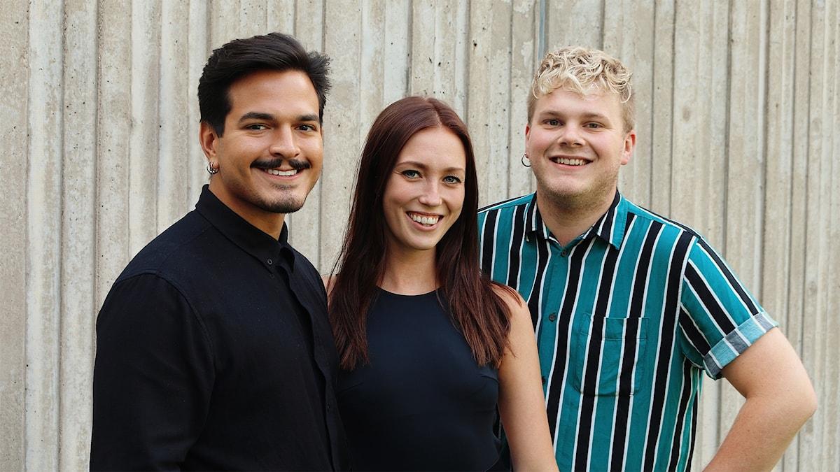 Alexander Letic, Olivia Johansson Berntsson och Simon Rosenqvist