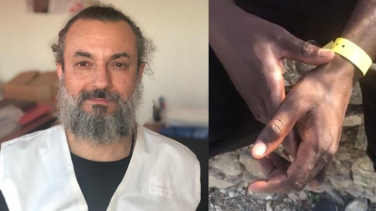 Greg Kavarnos är psykolog på kliniken på Lesbos.