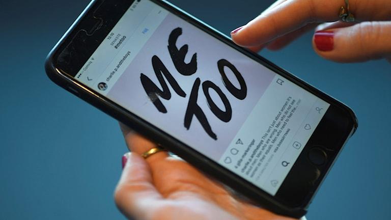 Metoo-bild i telefon