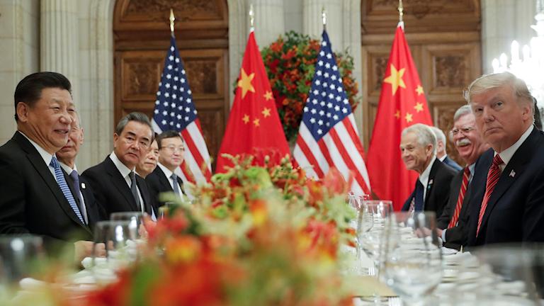 Donald Trump och Kinas president Xi Jinping under G20-mötet i Argentina, 2018.