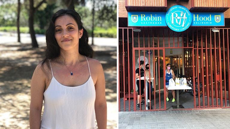 Spansk kvinna / Restaurang