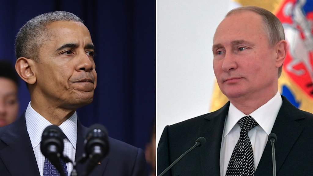 Barack Obama, USA:s president och Vladimir Putin, rysslands president.