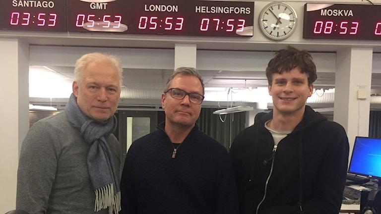 annes Holm, Håkan Widman och Adam Pålsson