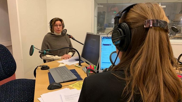 Isabella Lövin i studion.
