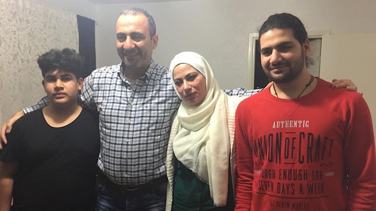 Nawar, Najwan, Lubna och Nader.