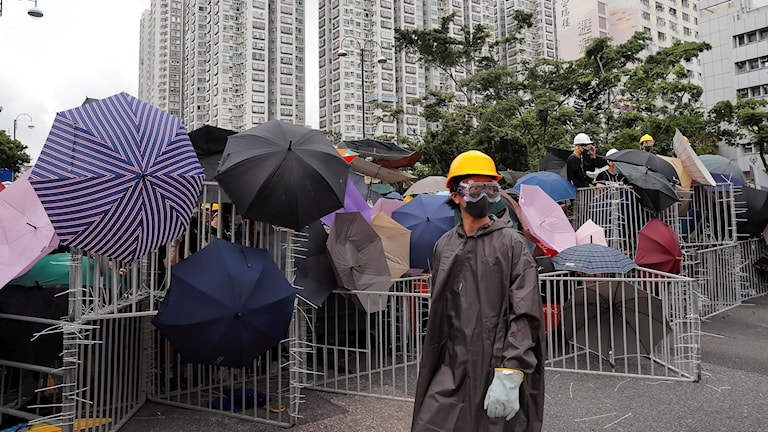 Fortsatta demonstrationer i Hongkong.