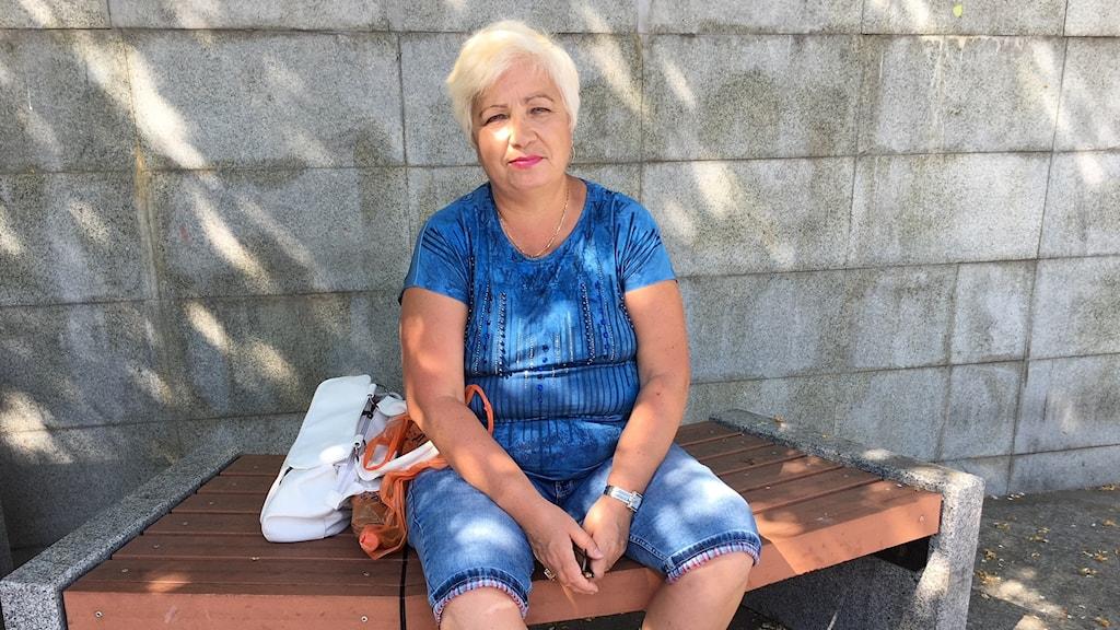 Pensionären Ljudmila Bazjena i Nizjnij Tagil.