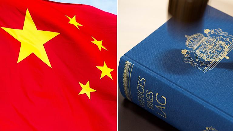 Kinesisk flagga, svensk lagbok.