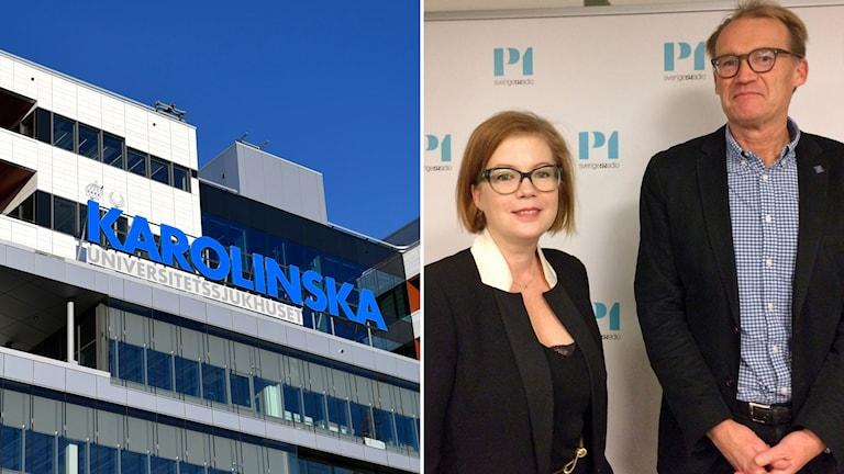 Nya Karolinska har öppnat. Anna Starbrink (L) sjukvårdslandstingsråd i Stockholms landsting och Johan Styrud, ordförande för Läkarföreningen i Stockholm.