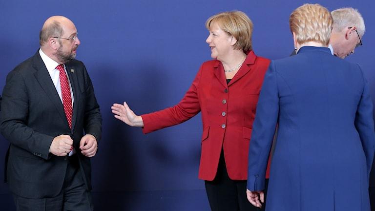 Martin Schultz och Angela Merkel