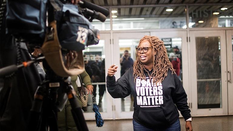 LaTosha Brown försöker få väljare att ta sig till vallokalerna i den amerikanska södern.