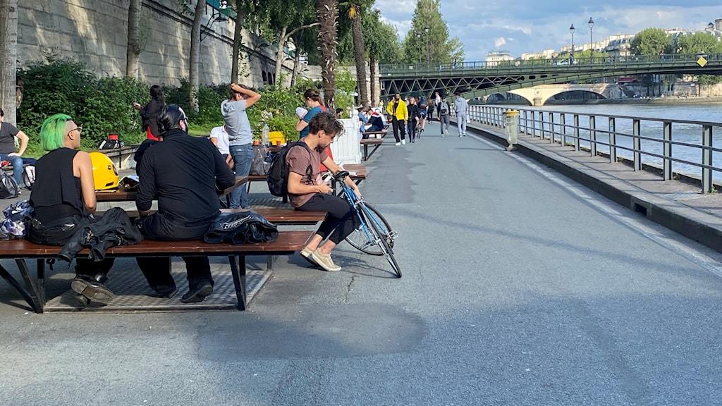 Les Berges de Seine - en av de kajer i Paris som omvandlats från motorled till cykel och promenadstråk