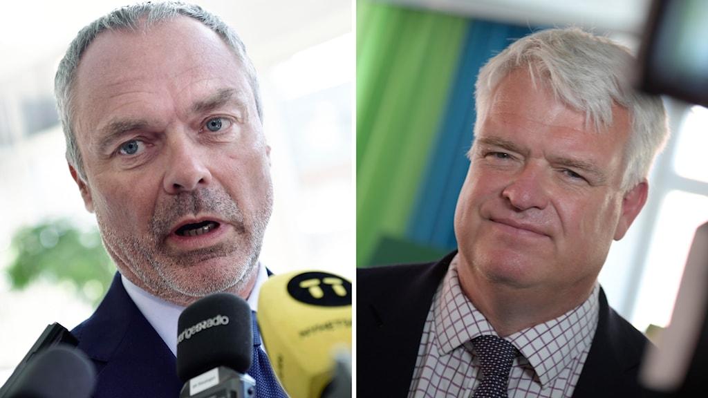 Jan Björklund (L) och Michael Arthursson (C).
