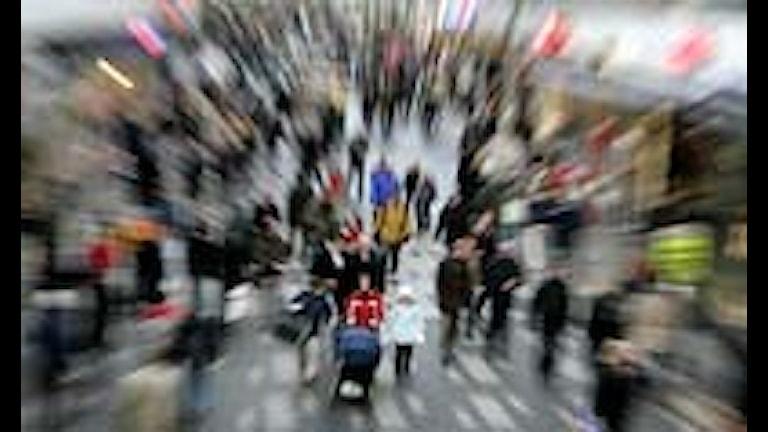 Julhandel på Sergelgatan i Stockholm. Foto Anders Wiklund / SCANPIX. COPYRIGHT PRESSENS BILD