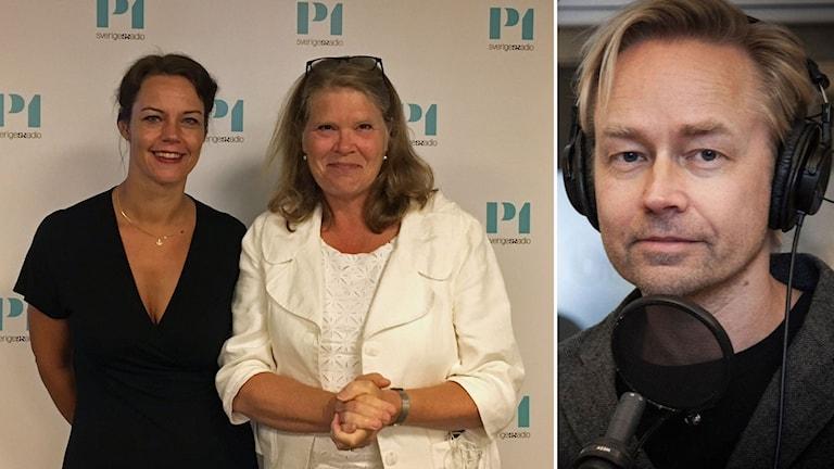 Veronica Palm, Cecilia Stegö Chilò och Fredrik Furtenbach.