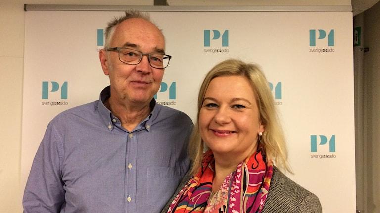 Nils Funcke,  journalist, lärare i medierätt och expert på yttrandefrihet och  Anna Gullberg chefredaktör för Gefle Dagblad