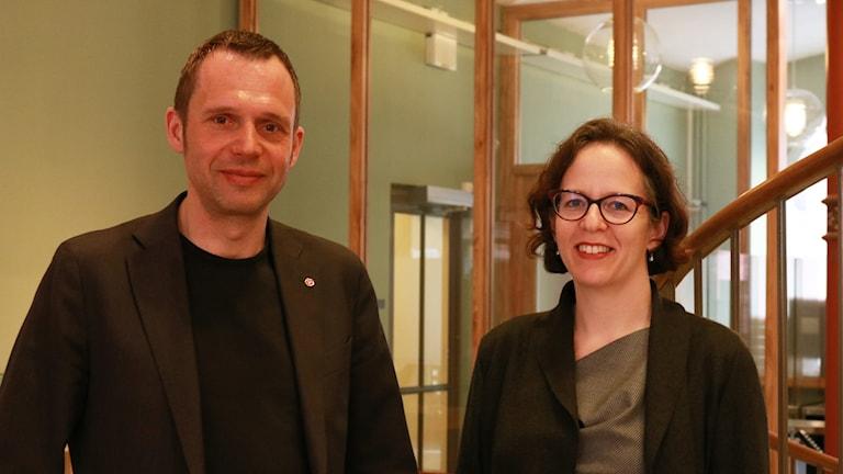 Klimatforskaren Kim Nicholas möter Jens Holm