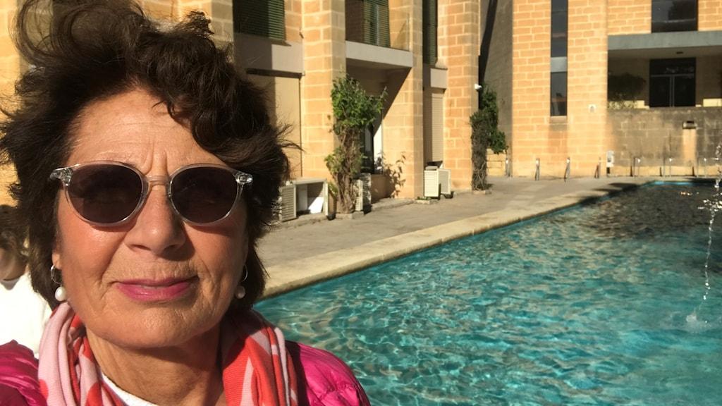 Sveriges Radios migrationskorrespondent Alice Petrén på plats på Malta.