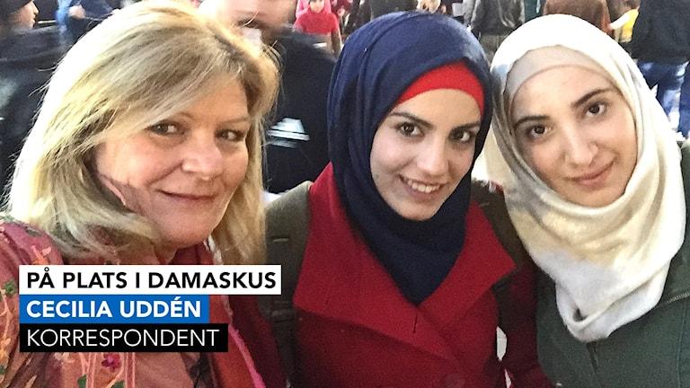 Cecilia Udden på plats i Damaskus