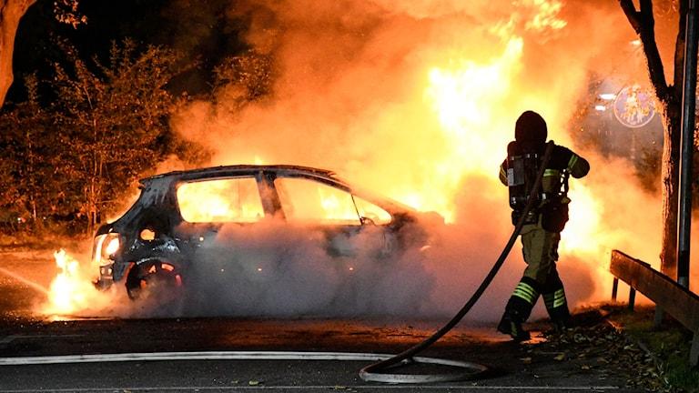 Bilbrand i Malmö.