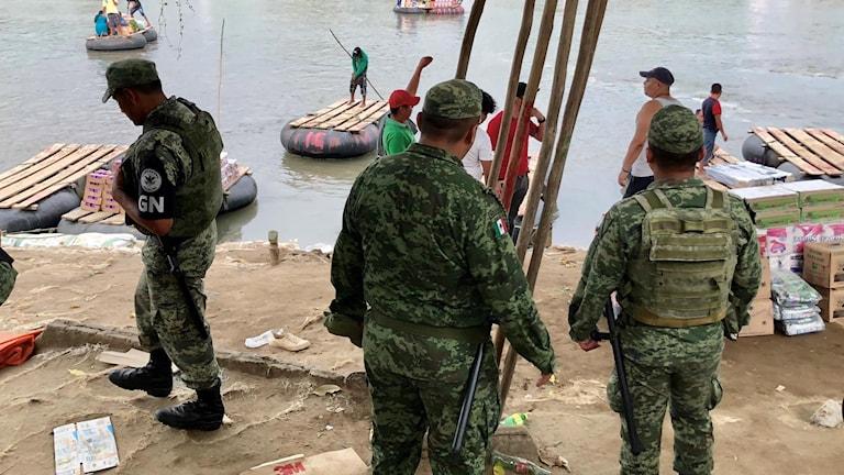 Vår utsände har besökt en av städerna på gränsen mellan Mexiko och Guatemala, vid floden Suchiate.
