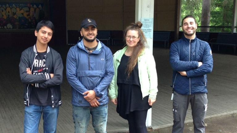 Al Ahmed Busadi, Homayoun Logari, Anna Eklund Tarantino och Elias Issa