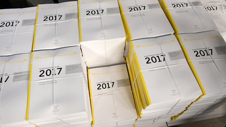 Regeringens höstbudget för 2017.