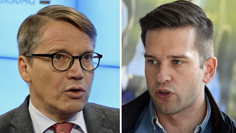 Delad bild: Göran Hägglund (KD) och Gabirel Wikström (S). Foto: Bertil Ericson/TT samt Claudio Bresciani/TT.