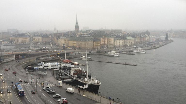 Grau-in-Grau über der Altstadt von Stockholm (Foto: Mons Brunius/TT)