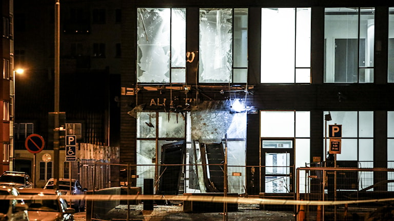En kraftig detonation skakde centrala Malmö på söndagskvällen. Foto: Stig-Åke Jönsson