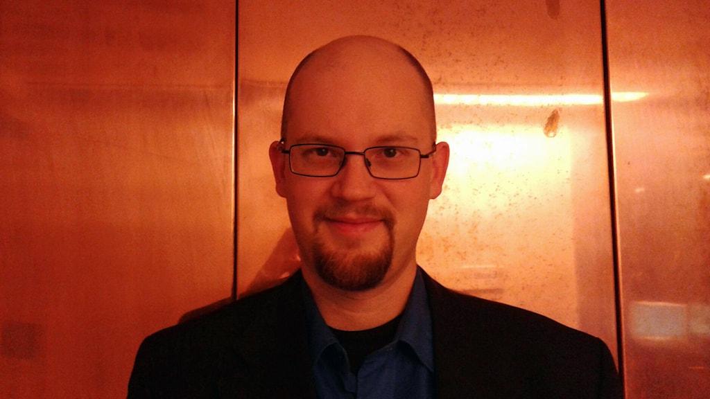 Närbild på Mikael Höök, forskare i globala energisystem vid Uppsala Universitet. Foto: Lena Wiktorin/Sveriges Radio