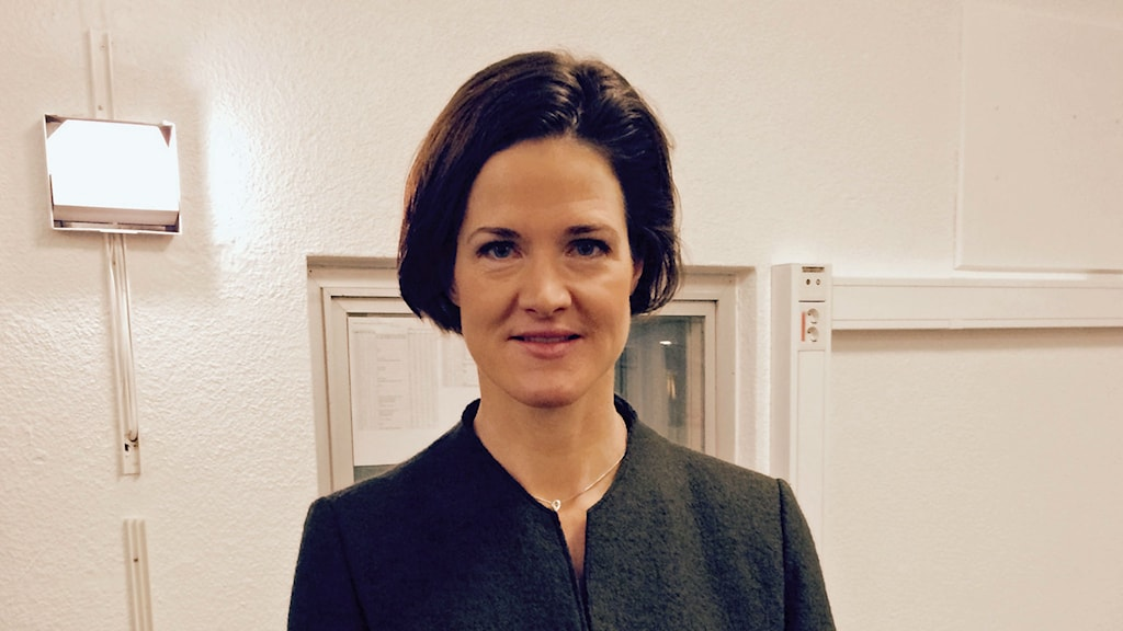 Anna Kinberg Batra, partiledarkandiat för Moderaterna.  Foto: Josef el Mahdi/Sveriges Radio