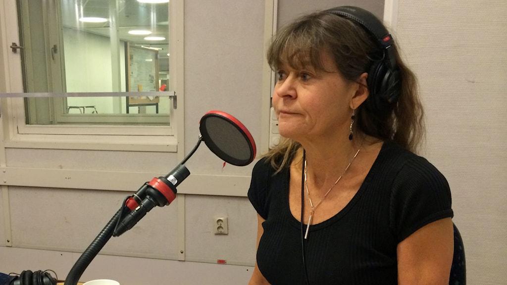 Maria Wiezell i studion.
