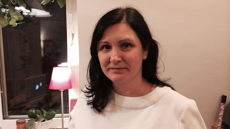 Maria Höglander i Stockholm kämpar för att hennes dotter, som har ADHD, ska få stöd i skolan. Foto: Erika Mårtensson/Sveriges Radio