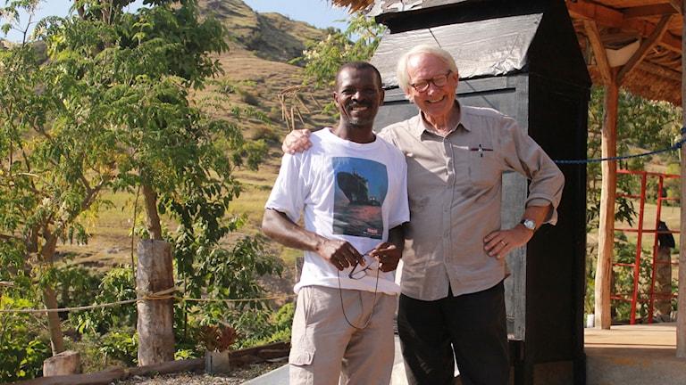 Lars Palmgren på Haiti. Foto: Sveriges Radio.