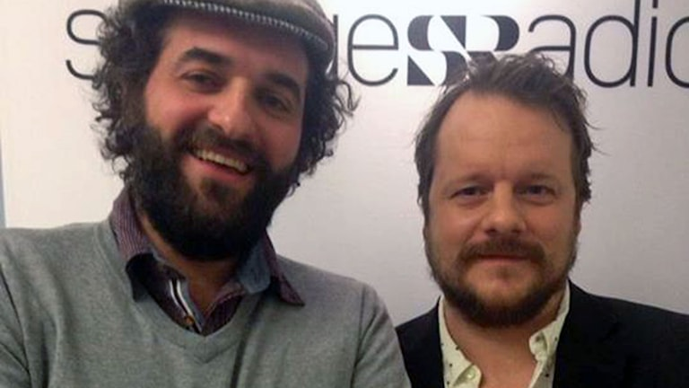 Reportrarna Firas Jonblat, och Johan Mathias Sommarström. Foto: Olof Sjölander/Sveriges Radio