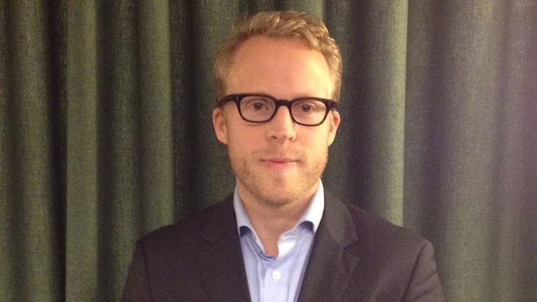 David Ahlin, opinionschef för Ipsos. Foto: Helena Ulander/Sveriges Radio.