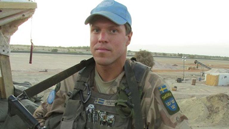 Fallskärmsjägaren Rikard Andersson.