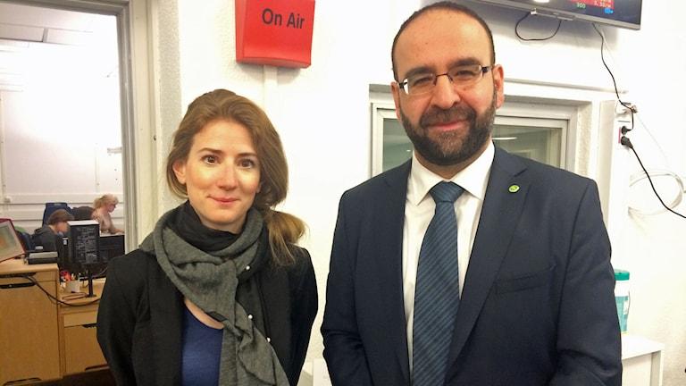 Mehmet Kaplan (MP) och Caroline Szyber (KD)