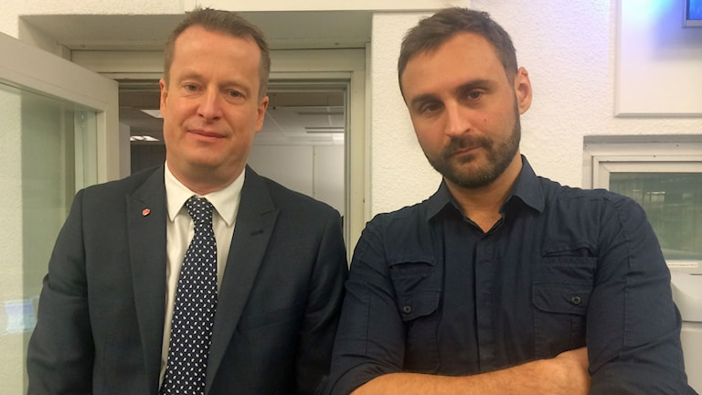 Anders Ygeman och Johar Bendjelloul.