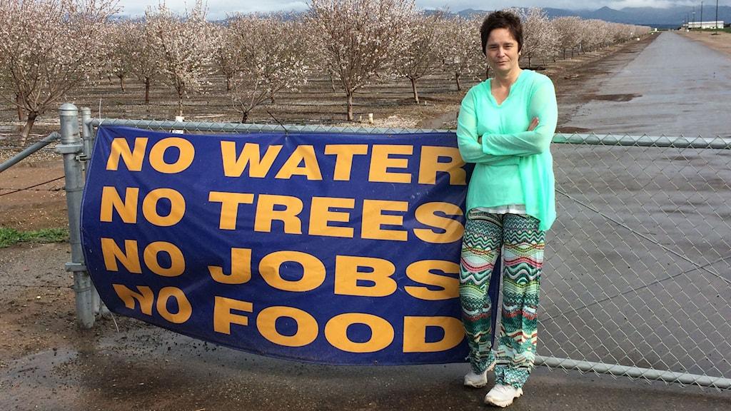 Agneta Furvik på resa i torkans spår, Kalifornien. Foto: Sveriges Radio