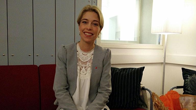 Annika Strandhäll, socialförsäkringsminister (S). Foto: Christoffer Wiklöw/Sveriges Radio