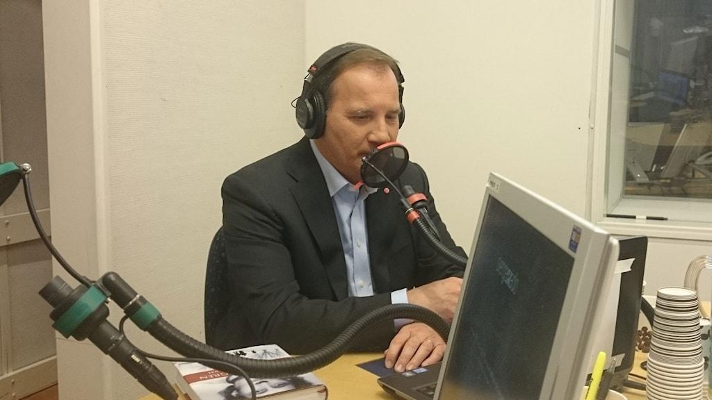 Statsminister Stefan Löfven. Foto: Jonna Burén/Sveriges Radio