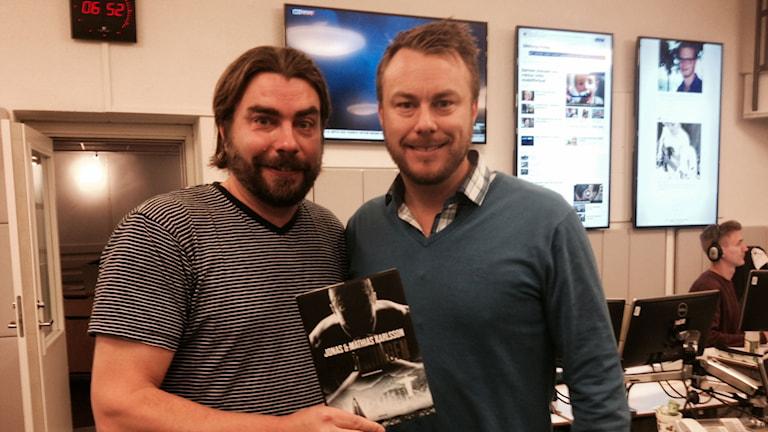 Mathias och Jonas Karlsson, författare till boken Enhörningen