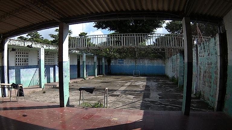 Inne på ungdomsfängelset Tonacatepeque. Foto: Paloma Vangpreecha/Sveriges Radio.