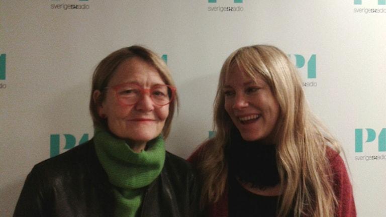 """Ann Petrén, skådespelare och Moa Gammel, skådespelare och författare till """"Genier"""". Foto: Lena Wiktorin/Sveriges Radio"""