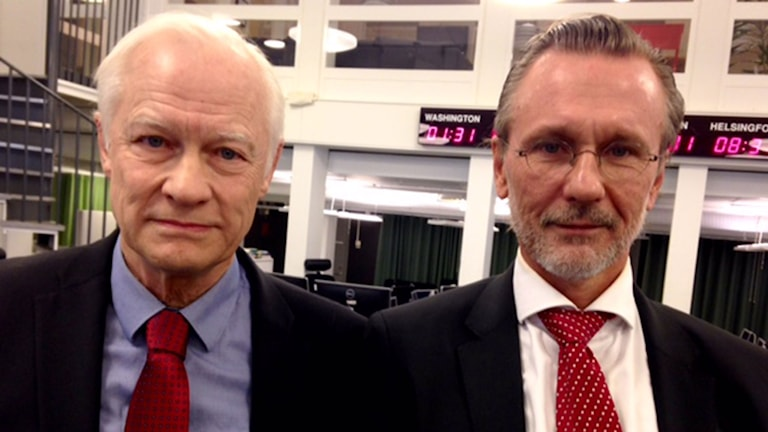 Ola Salomonsson, försvarsadvokat och Thomas Olsson, advokat. Foto: Ausi Petrelius/Sveriges Radio